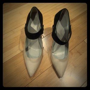 Calvin Klein Brystal Nude & Black heels